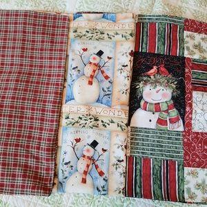 3 handmade Christmas decorative pillow covers